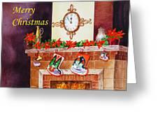 Christmas Card Greeting Card by Irina Sztukowski
