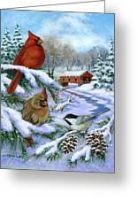 Christmas Creek Greeting Card by Richard De Wolfe