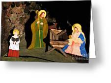 Christmas Crib Scene Greeting Card by Gaspar Avila