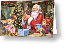 Christmas Eve Greeting Card by Zorina Baldescu