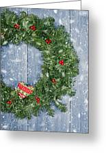 Christmas Garland Greeting Card by Amanda And Christopher Elwell