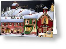 Christmas In Holly Ridge Greeting Card by Catherine Holman