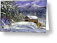 Christmas In New England Greeting Card by David Lloyd Glover