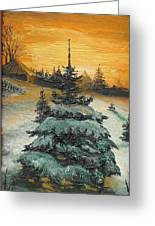 Christmas Is Coming Greeting Card by Sorin Apostolescu