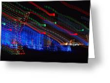 Christmas Lights Greeting Card by Dan Sproul