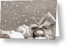 Christmas Ornaments Greeting Card by Wim Lanclus