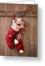 Christmas Stockings Greeting Card by Amanda And Christopher Elwell