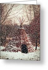 Christmas Tent Greeting Card by Wim Lanclus