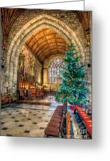 Christmas Tree Greeting Card by Adrian Evans