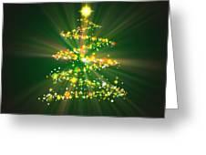 Christmas Tree Greeting Card by Atiketta Sangasaeng