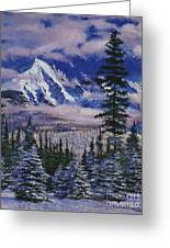 Christmas Tree Land Greeting Card by David Lloyd Glover