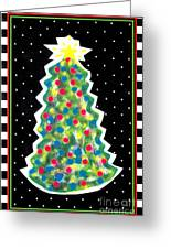 Christmas Tree Polkadots Greeting Card by Genevieve Esson