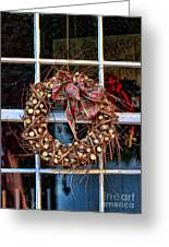 Christmas Wreath Greeting Card by Darren Fisher