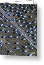 Christo Umbrellas In Japan Greeting Card by Georg Gerster