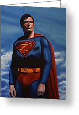 Christopher Reeve As Superman Greeting Card by Paul Meijering