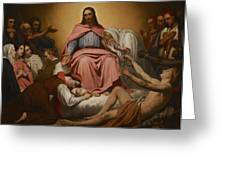 Christus Consolator Greeting Card by Ary Scheffer