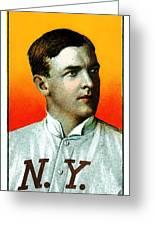 Christy Mathewson New York Giants Baseball Card 0100 Greeting Card by Wingsdomain Art and Photography
