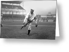 Christy Mathewson Pitching Greeting Card by Retro Images Archive