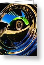 Chrome Hubcap Greeting Card by Phil 'motography' Clark