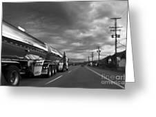 Chrome Tanker Greeting Card by Theresa Tahara
