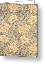 Chrysanthemum Greeting Card by William Morris