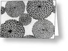 Chrysanthemums Greeting Card by Japanese School