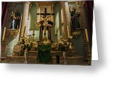 Church Altar Greeting Card by Aged Pixel