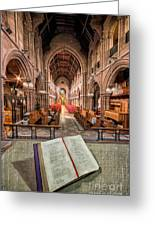 Church Bible Greeting Card by Adrian Evans