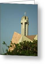 Church Cross Steeple Greeting Card by Cherie Haines