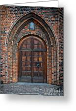 Church Door Greeting Card by Antony McAulay