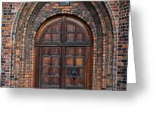 Church Door Greeting Card by Antony McAulay