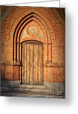 Church Door Helsingborg Greeting Card by Antony McAulay