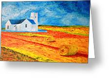 Church Harvest Ballintoy Greeting Card by Paul Morgan