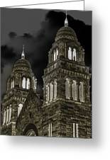 Church Lights On St. Peter Cathedral Greeting Card by Optical Playground By MP Ray