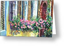 Church Street Textures Greeting Card by Alice Grimsley