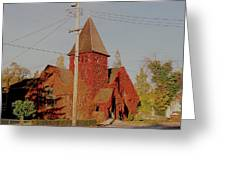 Church Vines Greeting Card by Trent Mallett