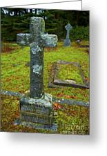 Churchyard Cross Greeting Card by Graham Foulkes