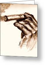 Cigar Greeting Card by Dallas Roquemore