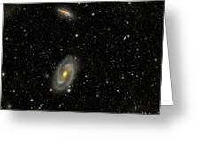 Cigar Galaxy And Bodes Galaxy Greeting Card by Reinhold Wittich