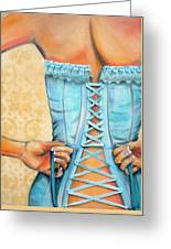 Cinched And Beautiful Greeting Card by Debi Starr