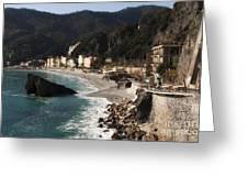 Cinque Terre Greeting Card by Leslie Leda