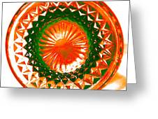 Circle Orange Greeting Card by Anita Lewis