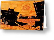 Circle The Wagons Greeting Card by Mike Flynn