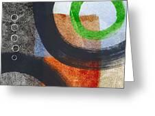 Circles 2 Greeting Card by Linda Woods