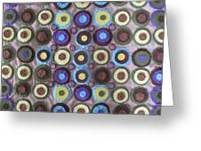 Circles And Dots Greeting Card by Cherie Sexsmith