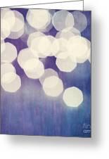 Circles Of Light Greeting Card by Priska Wettstein