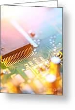 Circuit Board Abstract Greeting Card by Konstantin Sutyagin