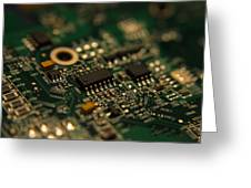 Circuit Board Greeting Card by Richard Stephen