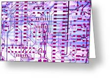 Circuit Trace II Greeting Card by Jerry McElroy