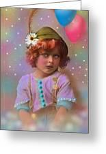 Circus Pixie Greeting Card by Karen Morley